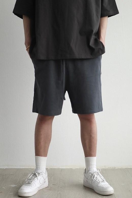 抽繩壓線棉質短褲
