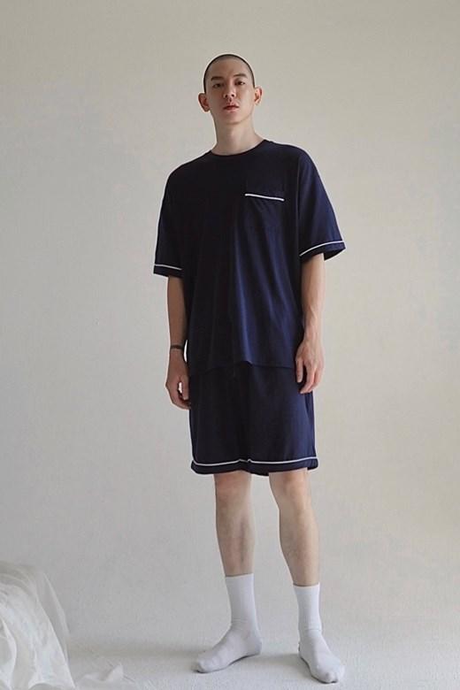 親膚滾邊睡衣短褲(MEN)