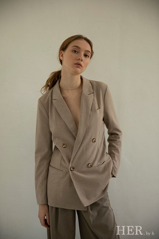 Double-Breasted Blazer 琥珀雙排釦西裝
