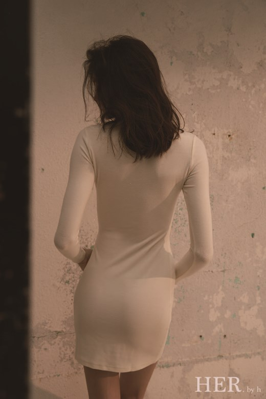 Roll Neck Mini Dress 優雅高領短洋裝