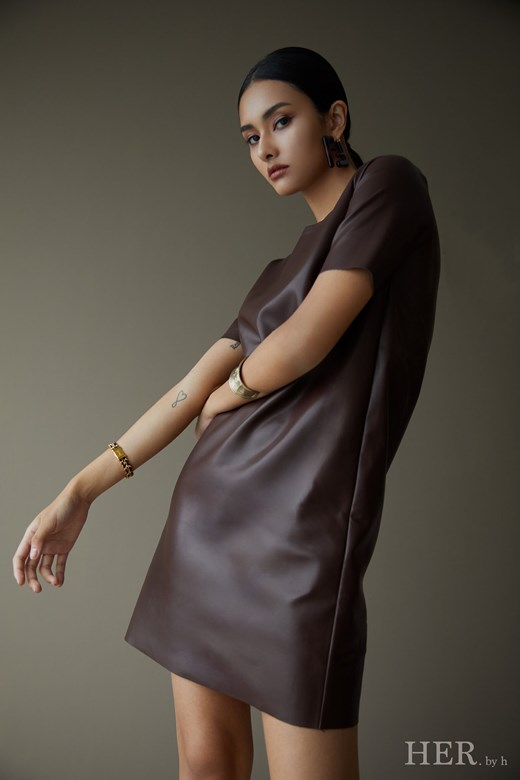 Casual Leather Dress