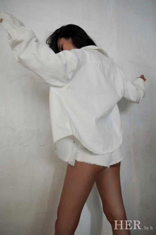 Her Oversized Denim Jacket