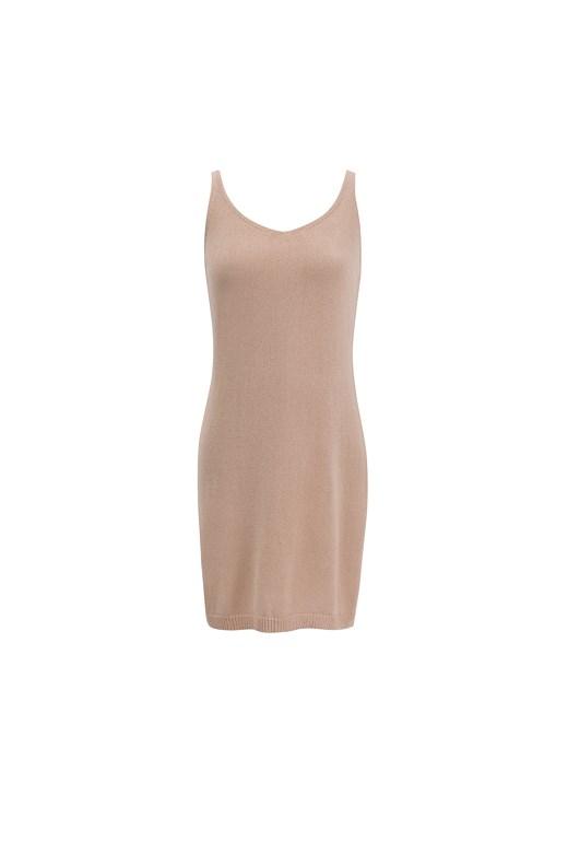Strap Knitted Mini Dress質感V領針織洋裝