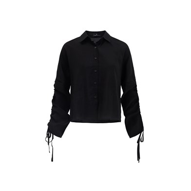 textured boxy shirt