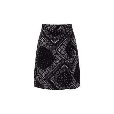 paisley miniskirt