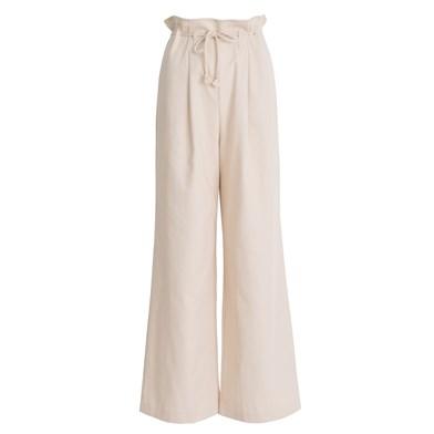 drawstring wide-leg trousers