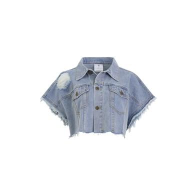 shredded slouch denim jacket