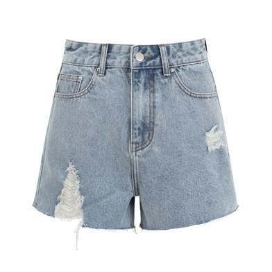 LUCY High-Waisted denim shorts