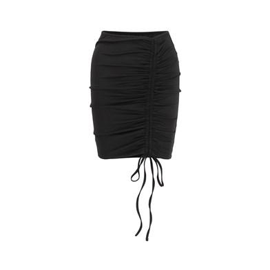 tied-waist beach skirt
