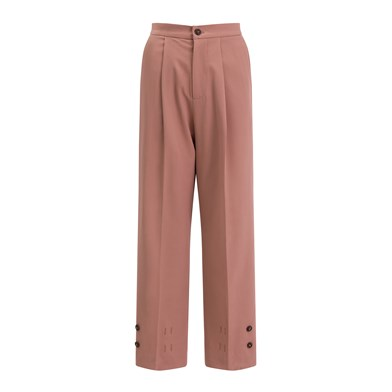 ankle buckle wide-leg trousers