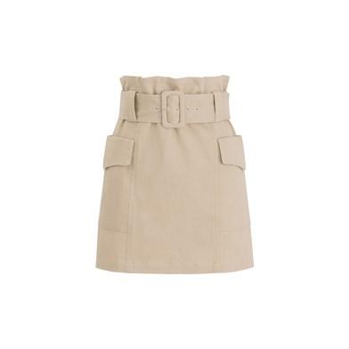 belted hunting mini skirt