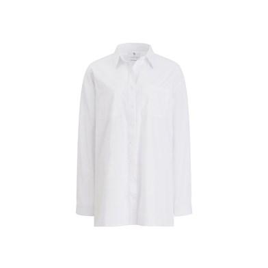 chest pocket oversize blouse