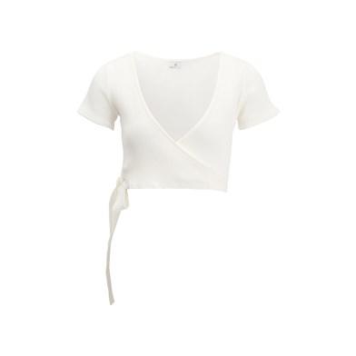 crisscross v-neck top