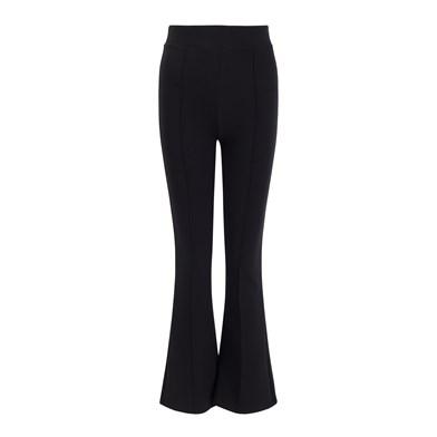 slit-detail elasticity trousers