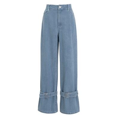 tie hem unisex jeans