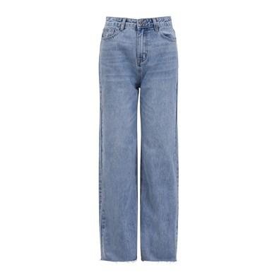 distressed cuff jeans