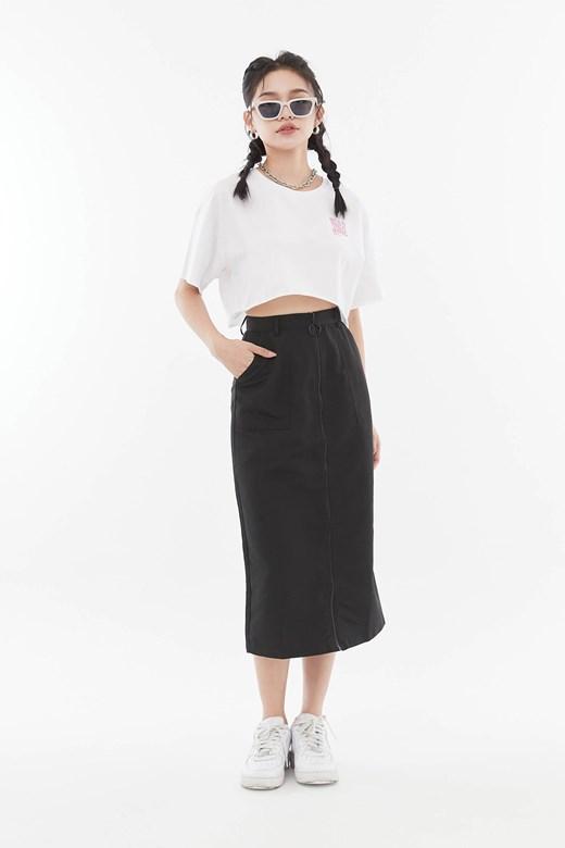 時髦拉鍊窄裙
