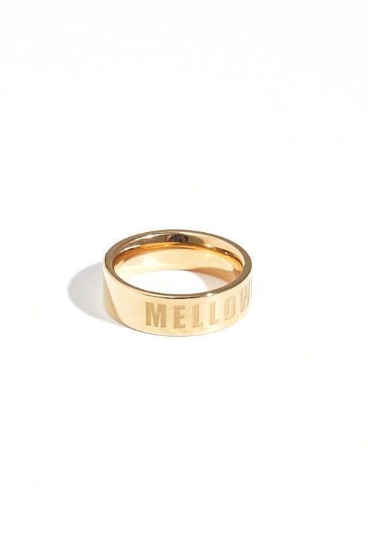 極簡品牌刻字戒指(不鏽鋼鍍18K金)