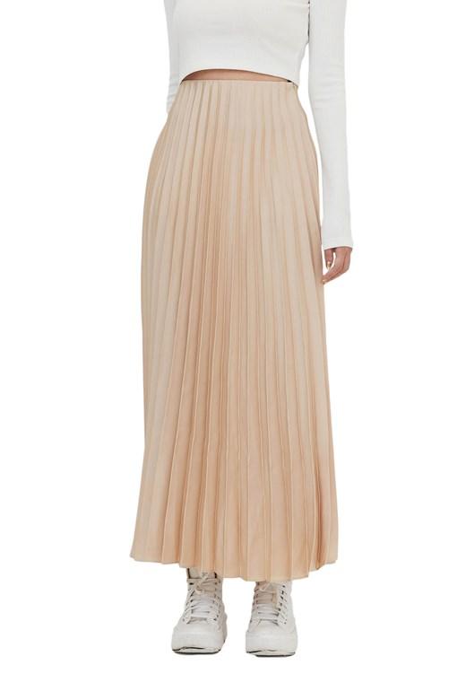 緞面質感百褶長裙