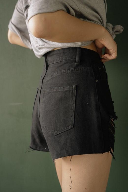 顯瘦長抽鬚牛仔短褲