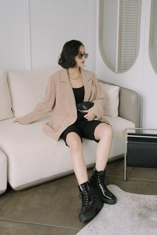 質感雙排釦西裝外套