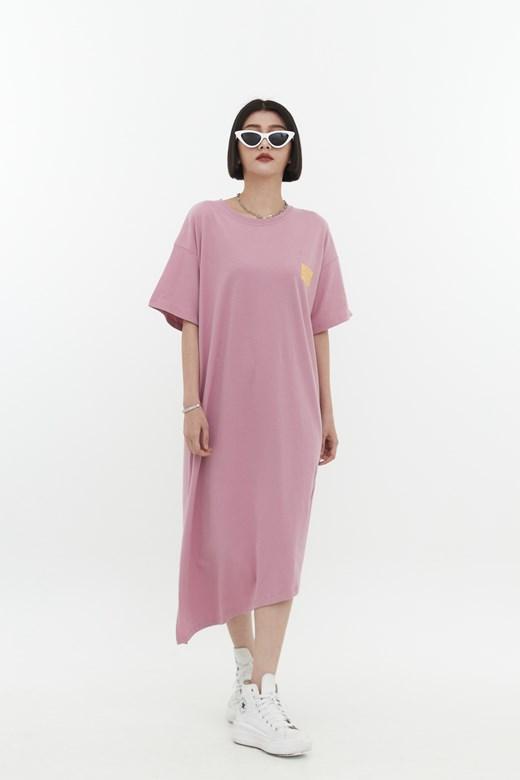 舒適長版印花棉質洋裝