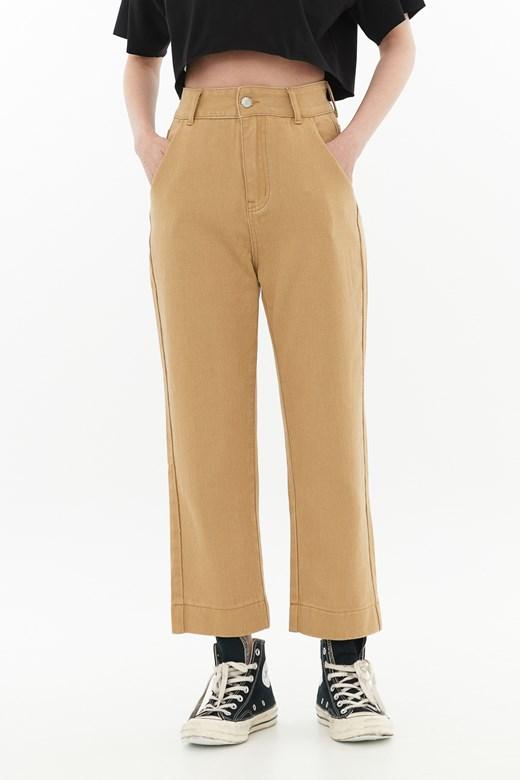 斜紋百搭直筒褲