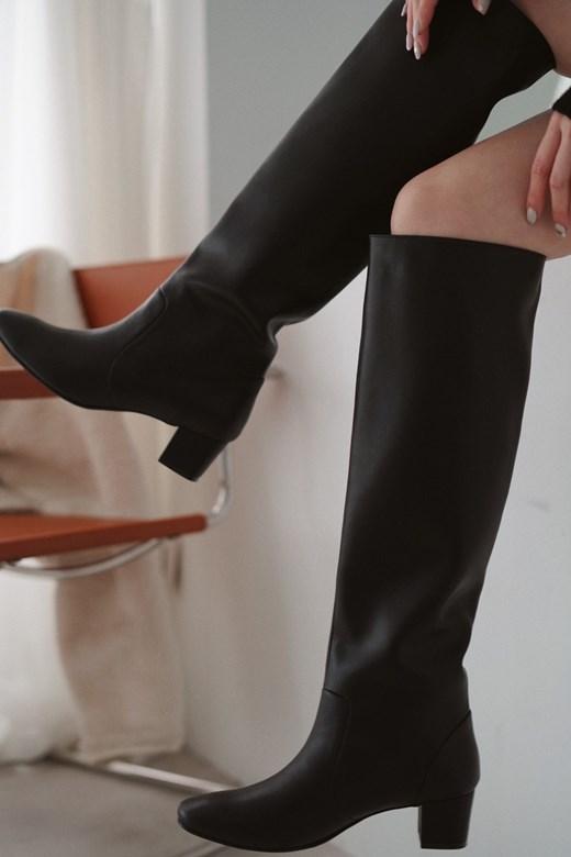 品牌手工長筒靴