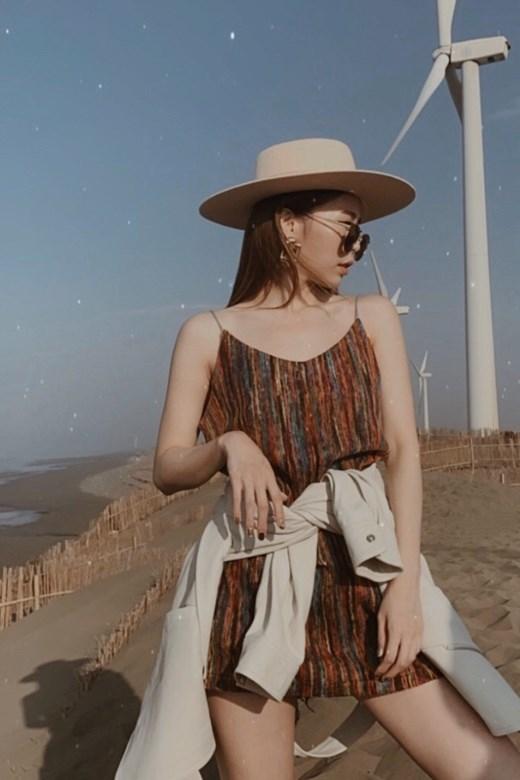 波西繽紛編織細肩短洋裝