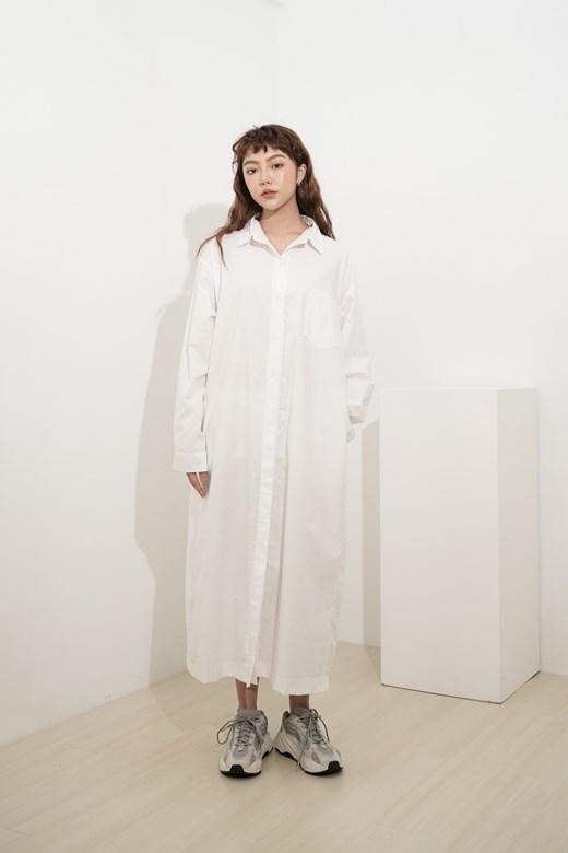 長版舒適寬鬆襯衫
