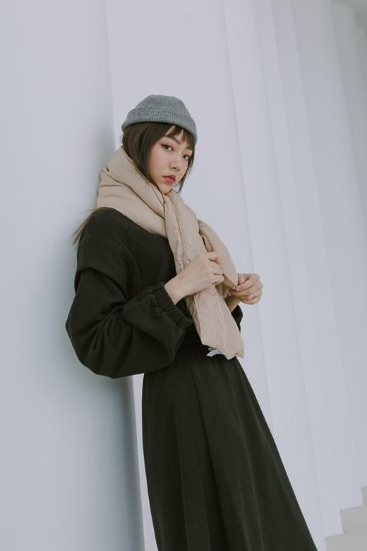 保暖鋪棉壓紋圍巾