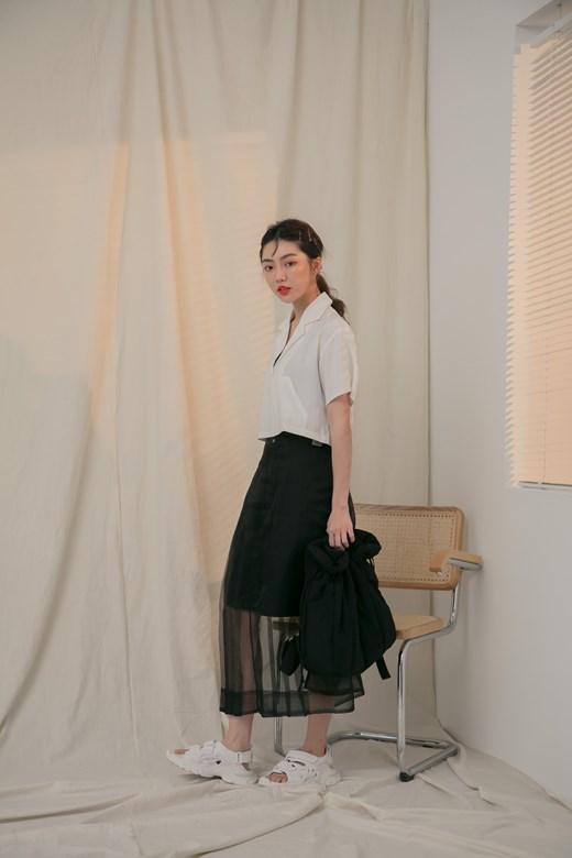 造型網紗綁帶裙