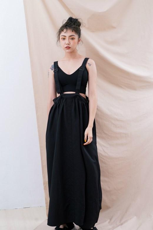 壓釦設計吊帶裙