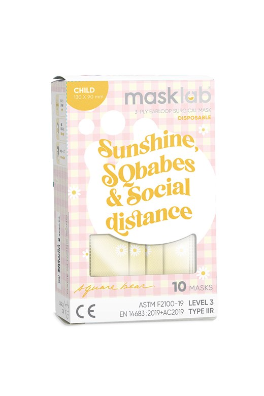 Sunshine, SQBabes, and Social Distance 品牌口罩(兒童)