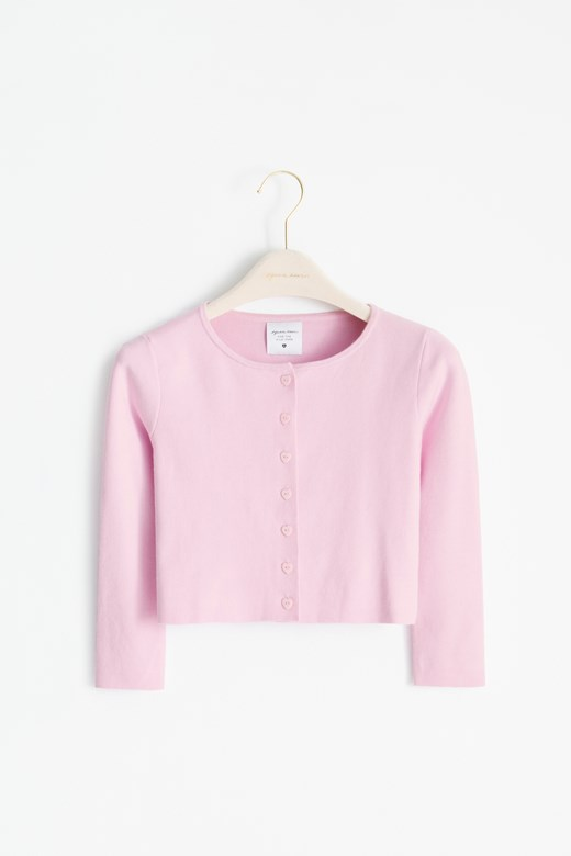 愛心釦針織小罩衫【包色2件(含)以上下單區】